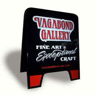 Vagabond Art Galllery A-Frame / Pin-stripping